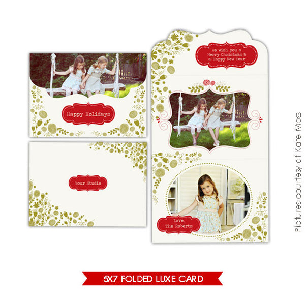 Holiday Ornate Photocard  | Garden Moments e205