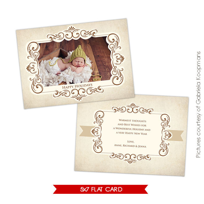 Holiday Photocard Template | Glory & Peace e520
