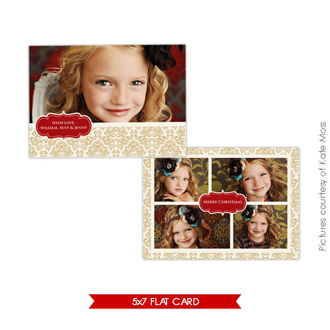 Holiday Photocard | Gold Garden 5x7 e154