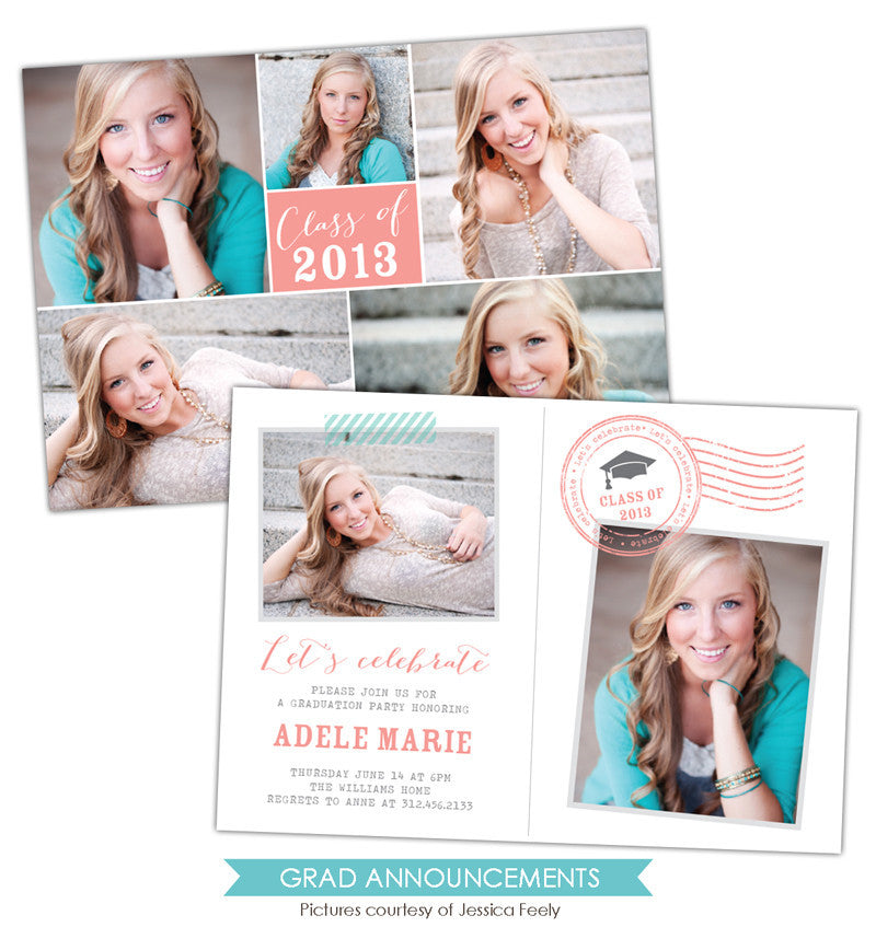 Grad announcement | Grad postcard e784