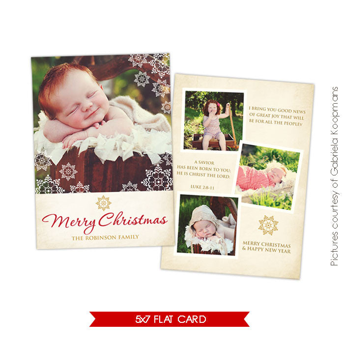 Holiday Photocard Template | Great news e523