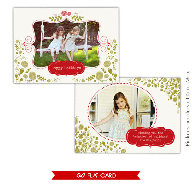 Holiday Photocard | Green Garden e207