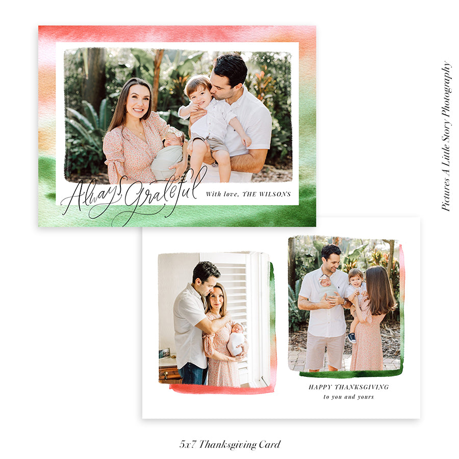 Thanksgiving Photocard Template | Always fall - HC013