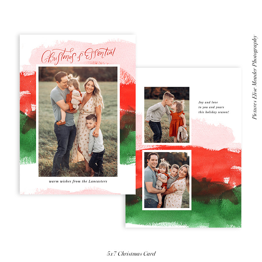 Christmas 5x7 Photo Card | Classic Brushes - HC038