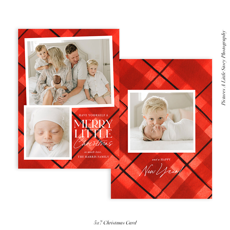Christmas 5x7 Photo Card | Merry Little - HC049