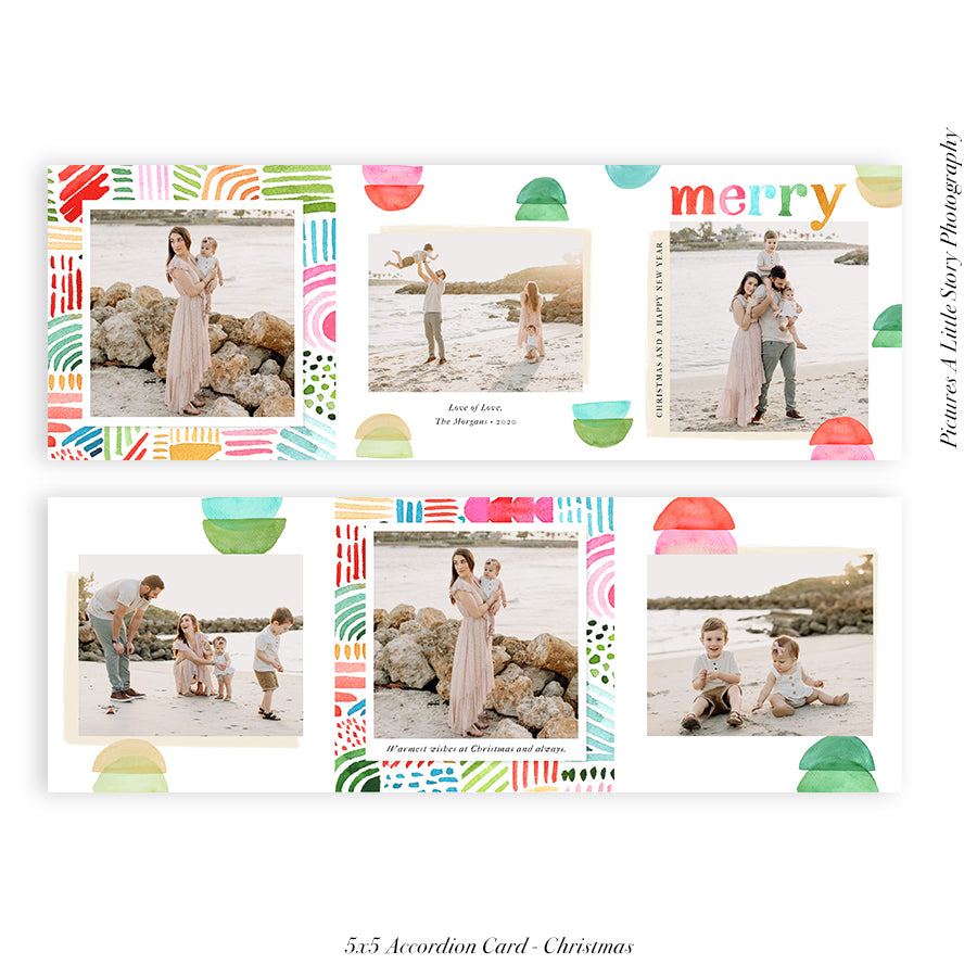 Copy of Christmas accordion card 5x5 | Brilliantly Bright - HC056