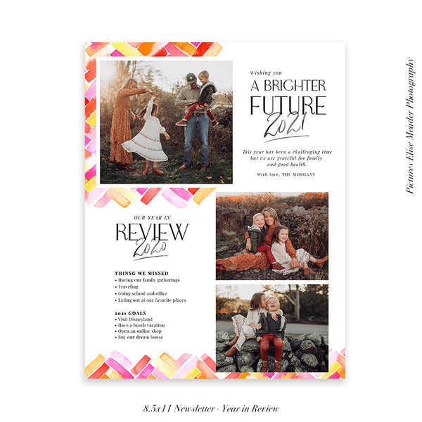 Year in Review Family Newsletter Template | Brighter New Year - HC072