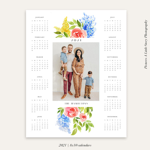 2021 Photo Calendar 8x10 |  Botanical Year - HC080