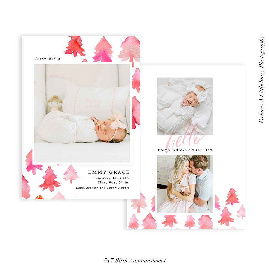 Birth Announcement Photocard | Hello Baby - HC089