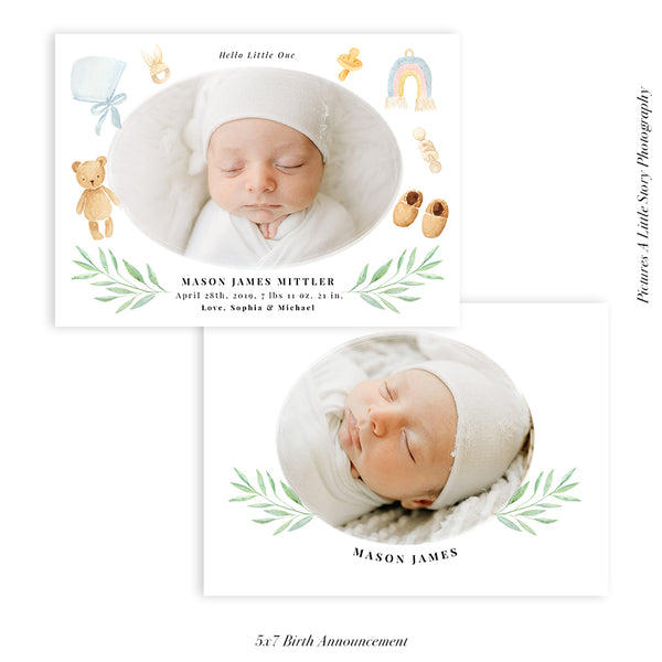 Birth Announcement Photocard | Baby Dreams - HC098