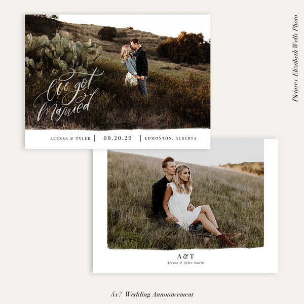 Wedding Announcement Photocard | We got married - HC100