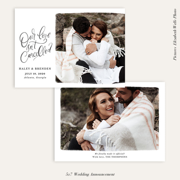 Wedding Announcement Photocard | Our love - HC101