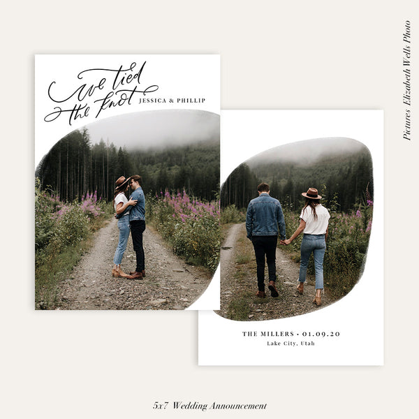 Wedding Announcement Photocard | We tied the knot - HC102