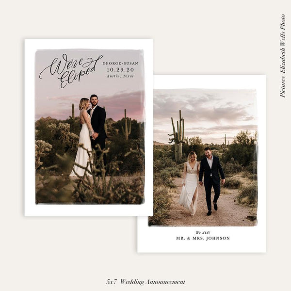 Wedding Announcement Photocard | We've eloped - HC103