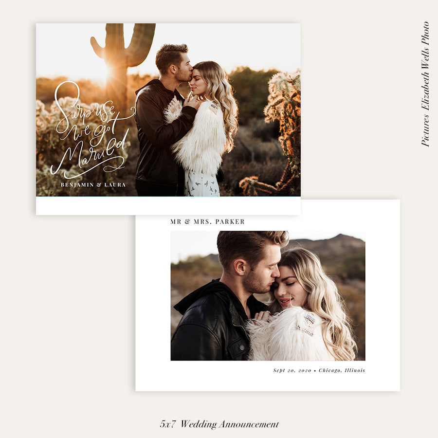 Wedding Announcement Photocard | Wedding surprise - HC105