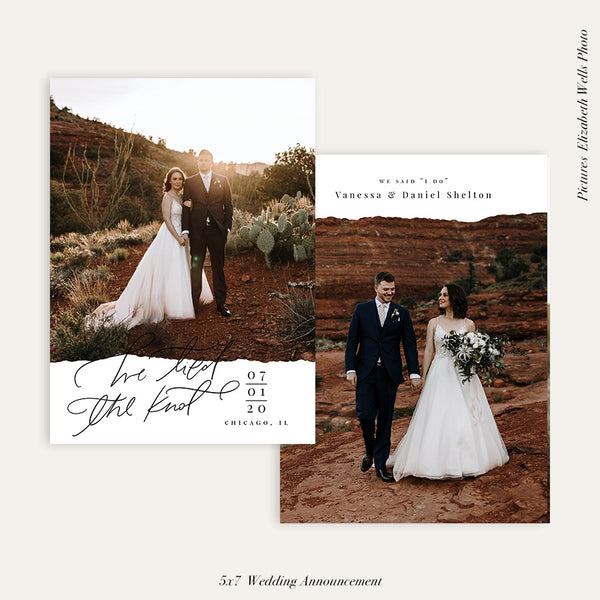 Wedding Announcement Photocard | Newly married - HC106