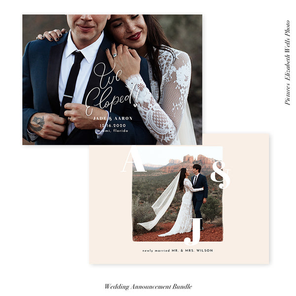 Wedding Announcement Photocard | We eloped - HC107