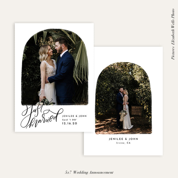 Wedding Announcement Photocard | Just Married - HC108