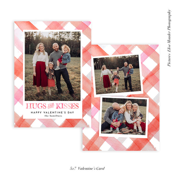 Valentine's Photocard | Hugs & Kisses - HC111