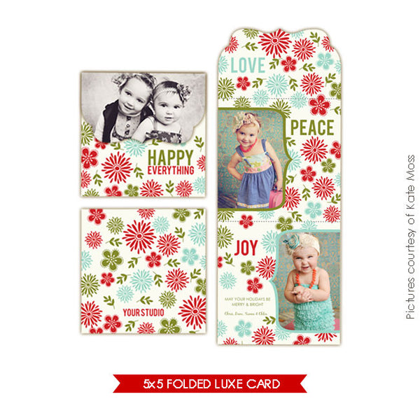 Holiday Ornate Photocard  | Happy Garden e156