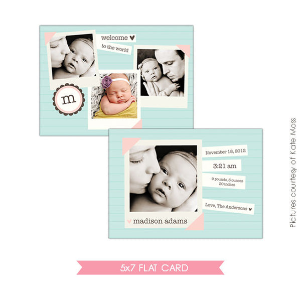 Birth Announcement |Happy letters e122