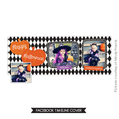 Facebook timeline cover | Happy Pumpkins e540