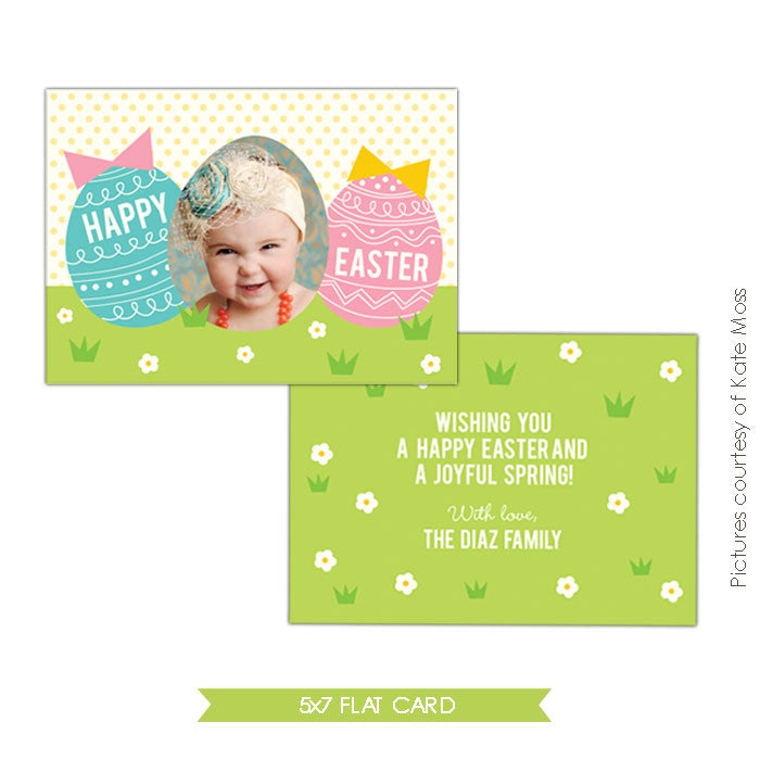 Easter photo card | Happy chicks e335