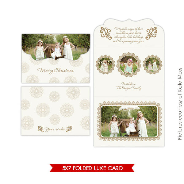 Holiday Ornate Photocard | Happy memories e193