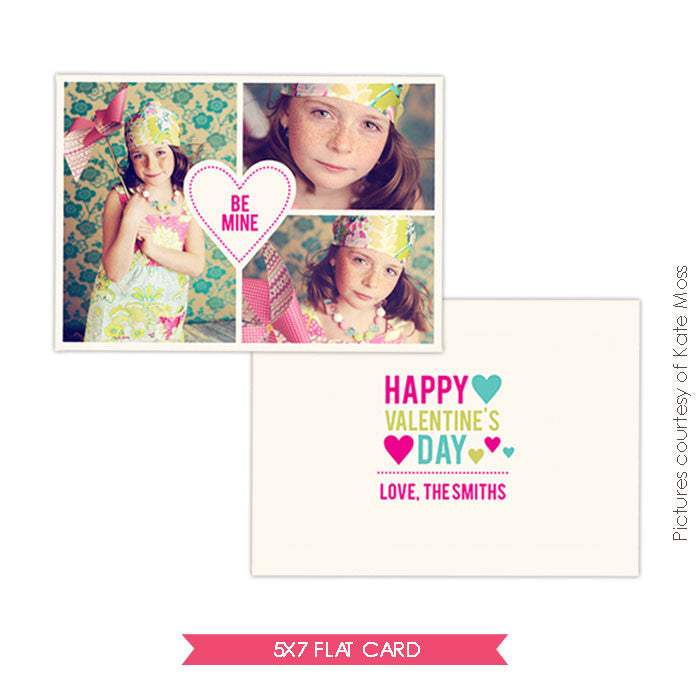 Valentine Photocard Template | Hearts e287