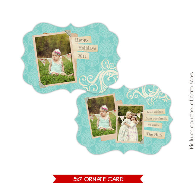 Holiday Ornate Photocard | Hills e127