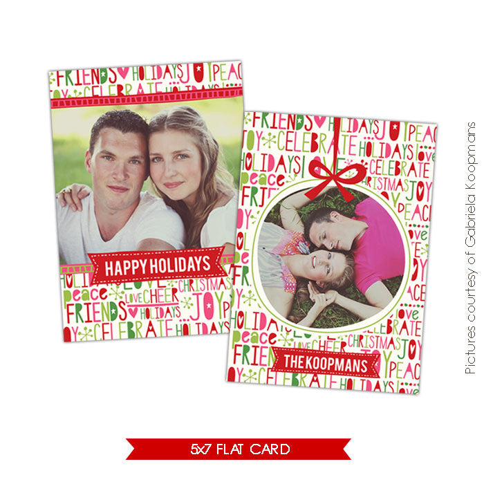 Holiday Photocard Template | Joyful celebrations e525