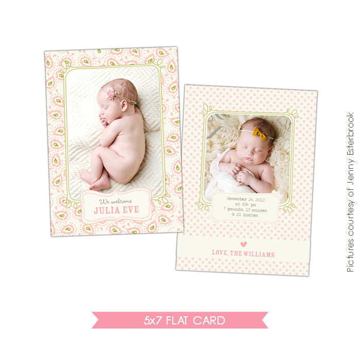 Birth Announcement | Julia Eve e404