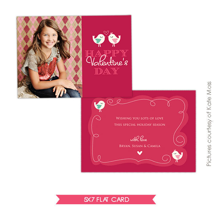 Valentine Photocard Template | Little lovers e286