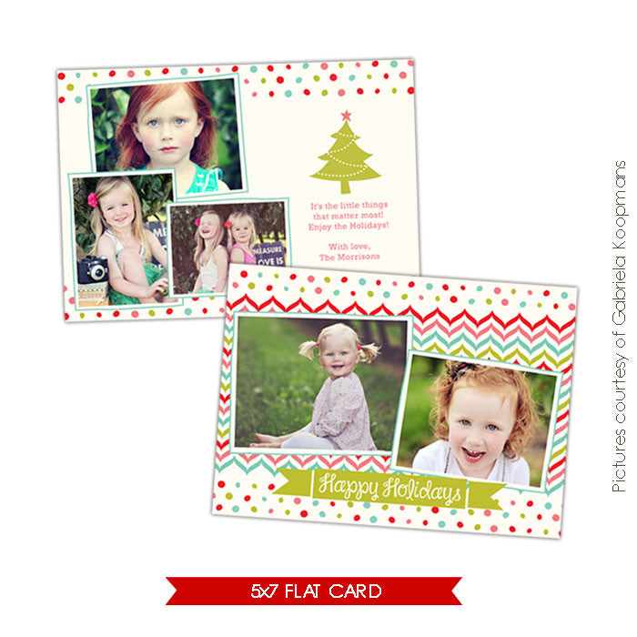 Holiday Photocard Template | Little things e529