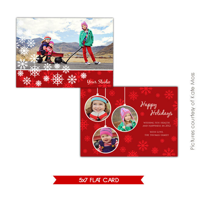 Holiday Photocard Template | Love winter e182