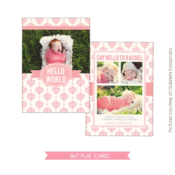 Birth Announcement | Lovely gift e479