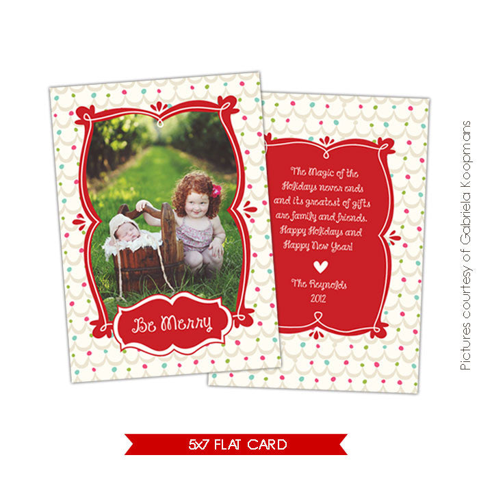 Holiday Photocard Template | Magic Season e526