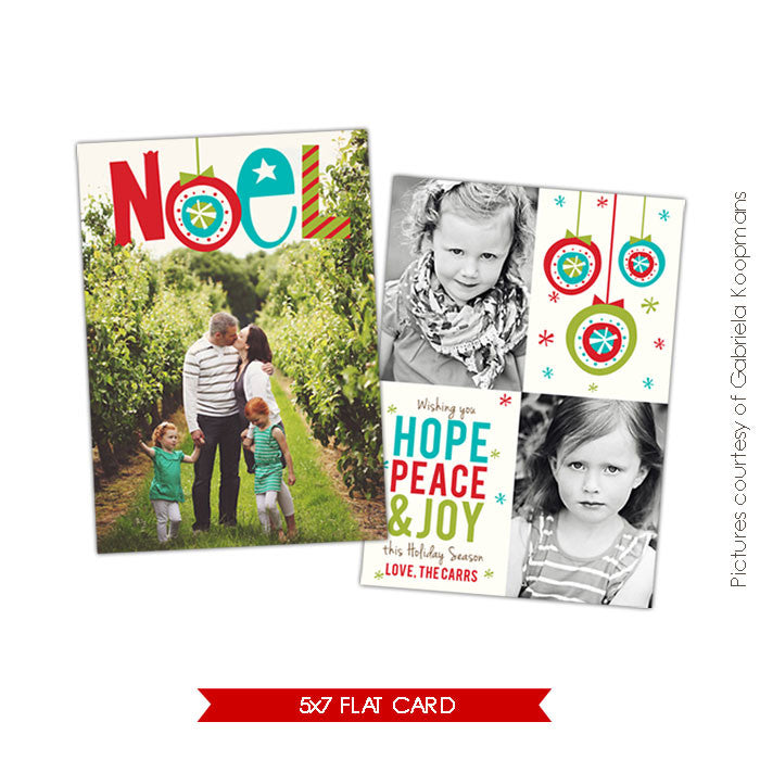 Holiday Photocard Template | Noel e530