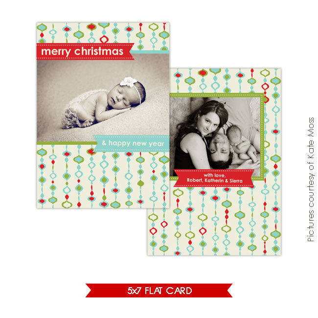 Holiday Photocard | Ornate christmas e108