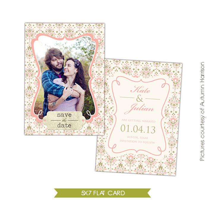 Our day | Save the date card e300