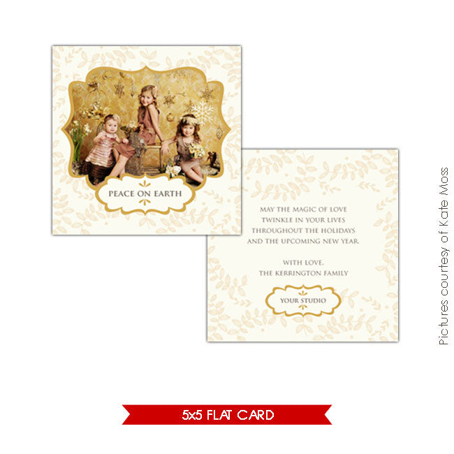 Holiday Photocard Template | Peace e165
