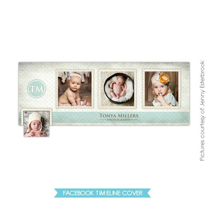 Facebook timeline cover | Photo stamps e345-10