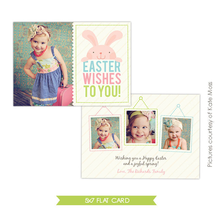 Easter photo card | Playful bunny e339