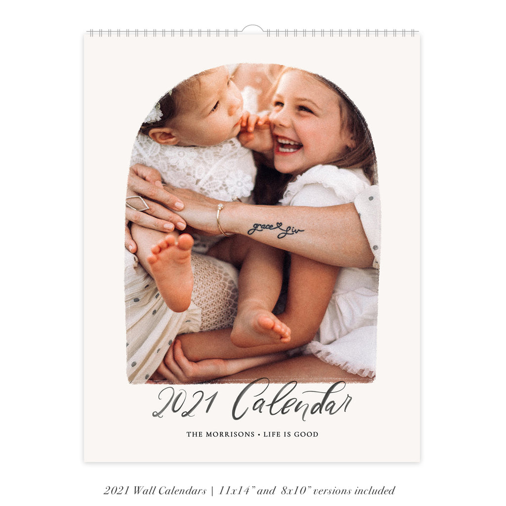 2021 Wall Photo Calendar 11x14 and 8.5x11 | Boho - RC002