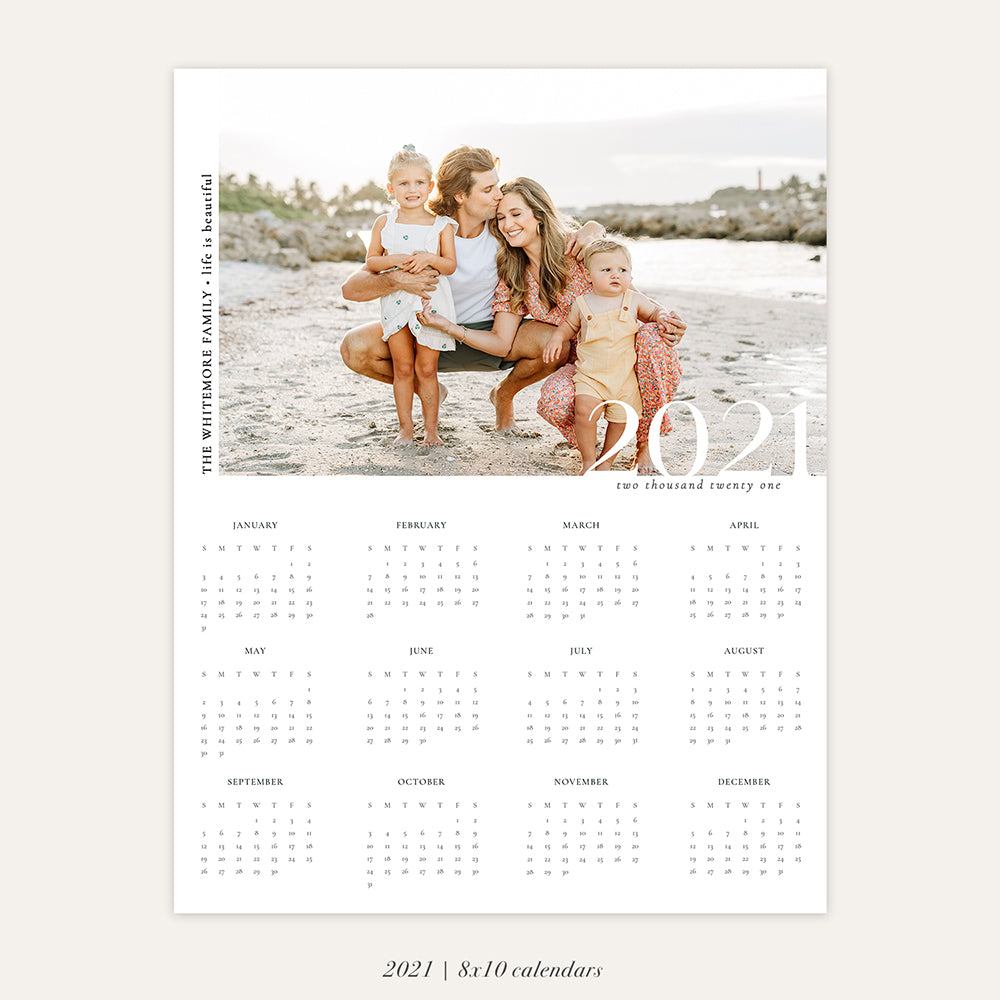2021 Photo Calendar 8x10 | Sand Vibes - RC008
