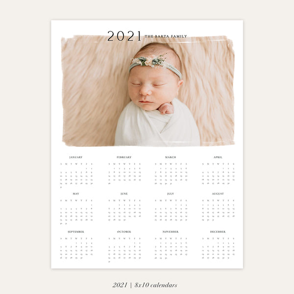 2021 Photo Calendar 8x10 | The Artist - RC009