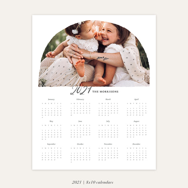 2021 Photo Calendar 8x10 | Love Arch - RC010