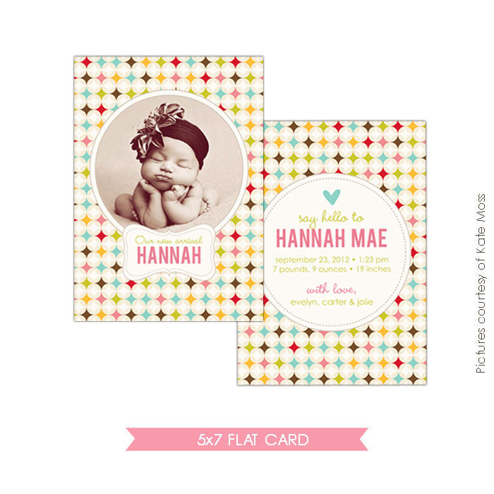 Birth Announcement | Retro Welcome e310