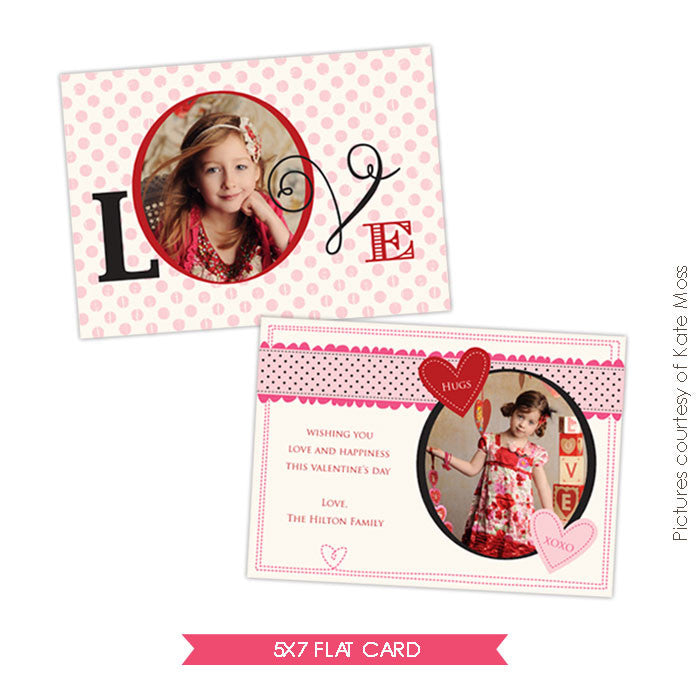 Valentine Photocard Template | Romantic dots e268