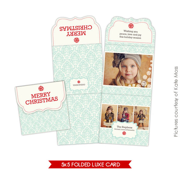 Holiday Ornate Photocard  | Sky e155